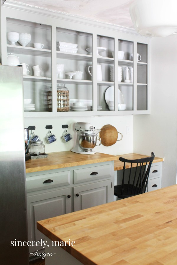 Kitchen Cabinets vs. Opening Shelving - Thoughts on Both