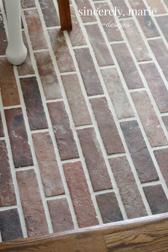 diy faux brick flooring sincerely