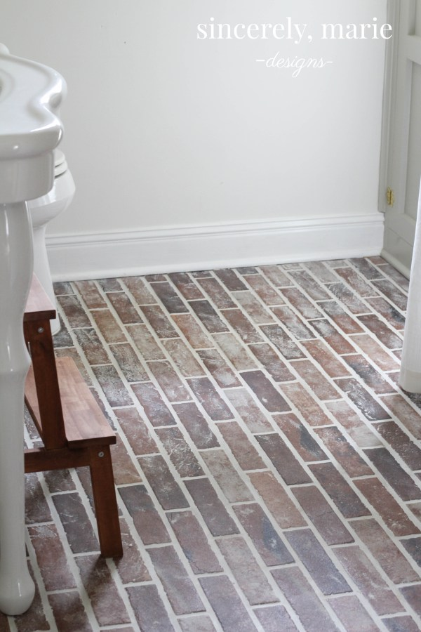 Diy Faux Brick Flooring Sincerely Marie Designs