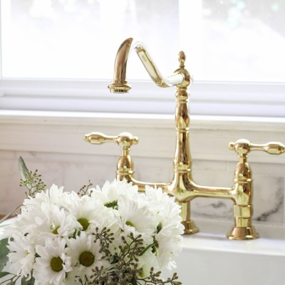 How-To Add More Holes to an Ikea Sink + Our Classic Bridged Faucet