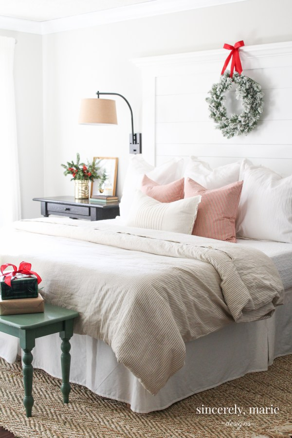 Classic Red Christmas Bedroom