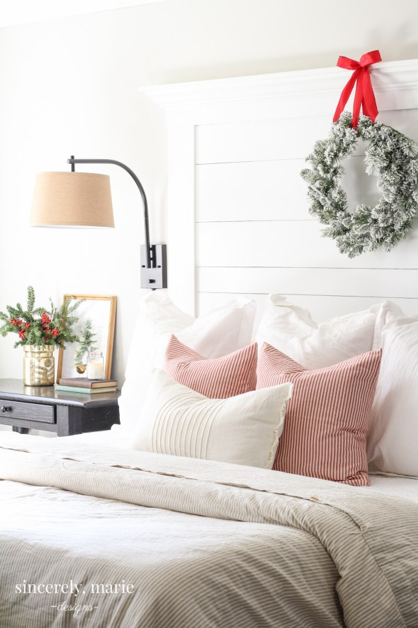 Our Classic Red Christmas Bedroom - Sincerely, Marie Designs