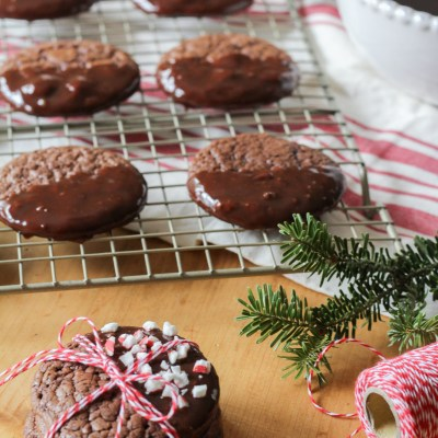 Chocolate Ganache Dipped Cookies – Holiday Cookie Hop