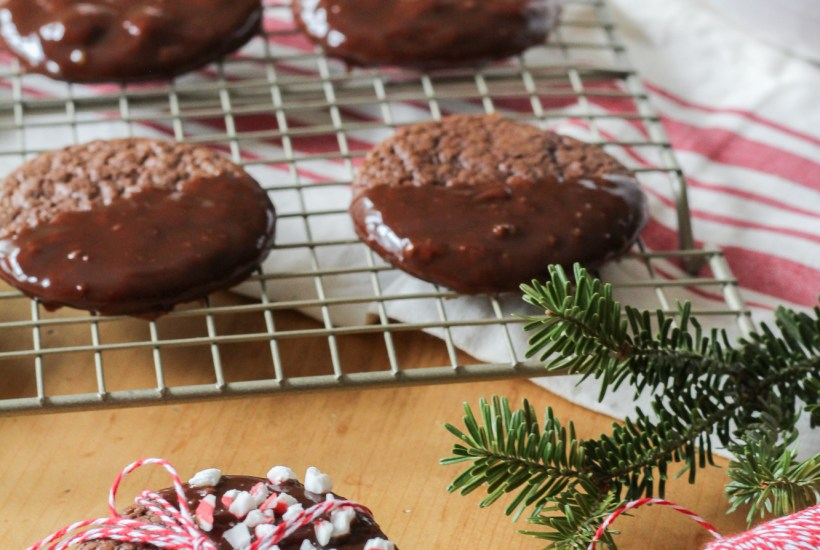 chocolate ganache dipped cookies