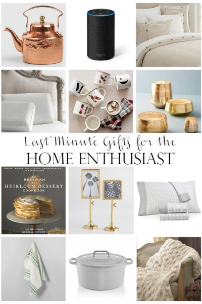 Last Minute Gift Ideas For the Home Enthusiast