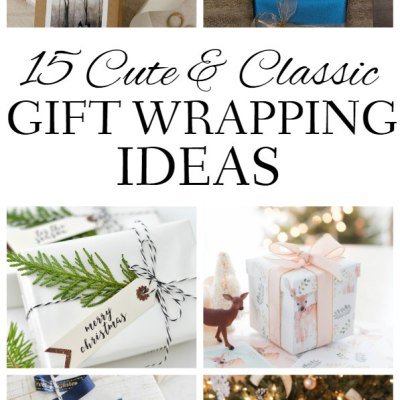 15 Cute & Classic Holiday Wrapping Ideas