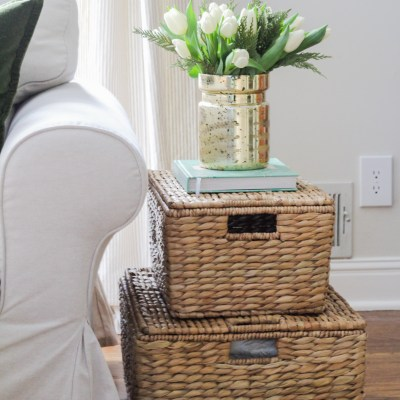 My Favorite Baskets – Alternative End Table
