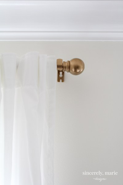 Easy Curtain Rod Update