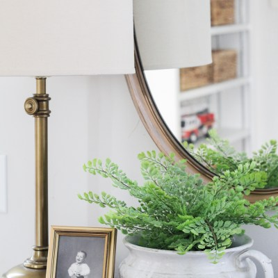 Decorating For Spring – Potting Faux Greenery
