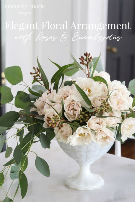 Simple Floral Arrangement with Roses