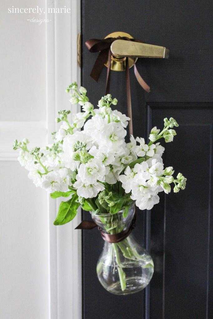 DIY Hanging Flower Vase