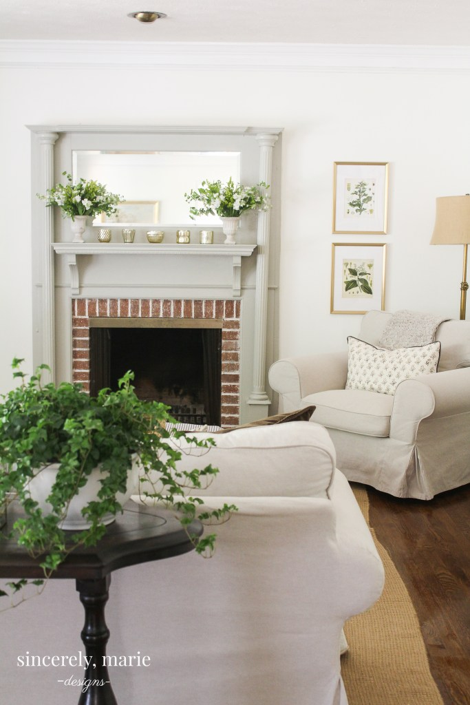 Warm & Classic Mantel Makeover