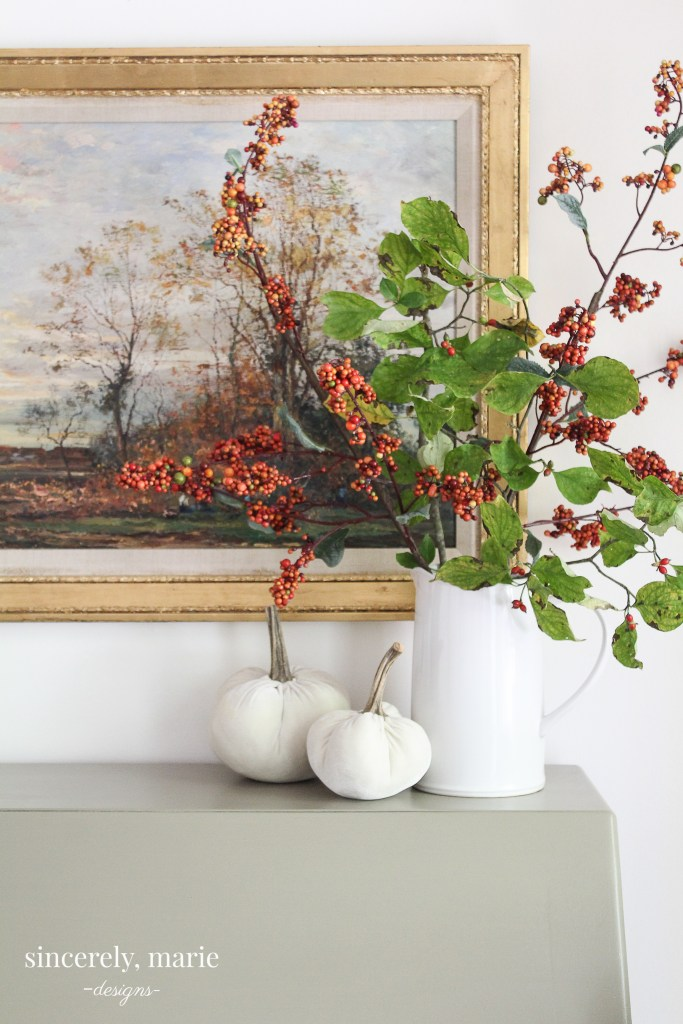 Simple and Classic Fall Decorating