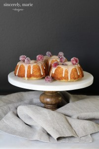 Mini Lemon & Cranberry Cakes with Ginger Drizzle