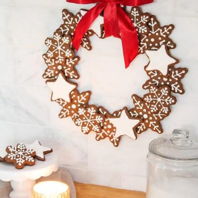 Christmas Gingerbread Cookie Wreath