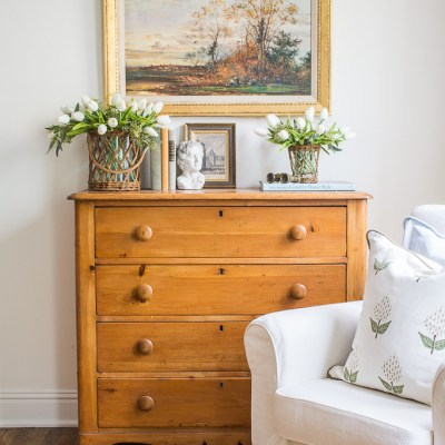 Antique Pine Chest – Spring Vignette