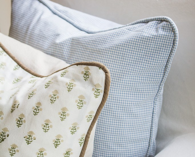 Pillow Cover with Piping