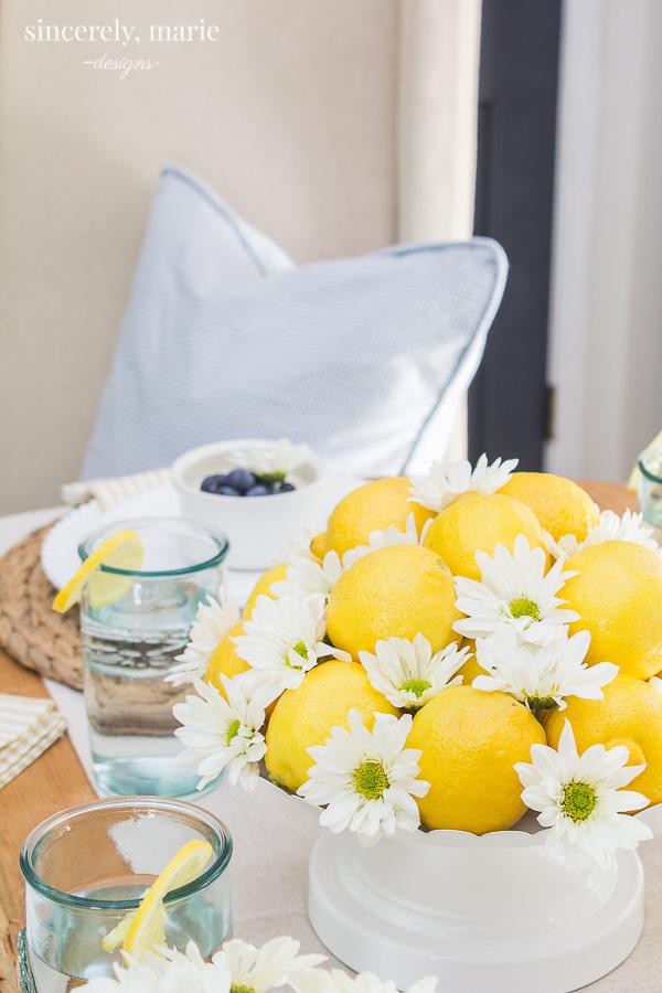 Lemon Centerpiece for Summer