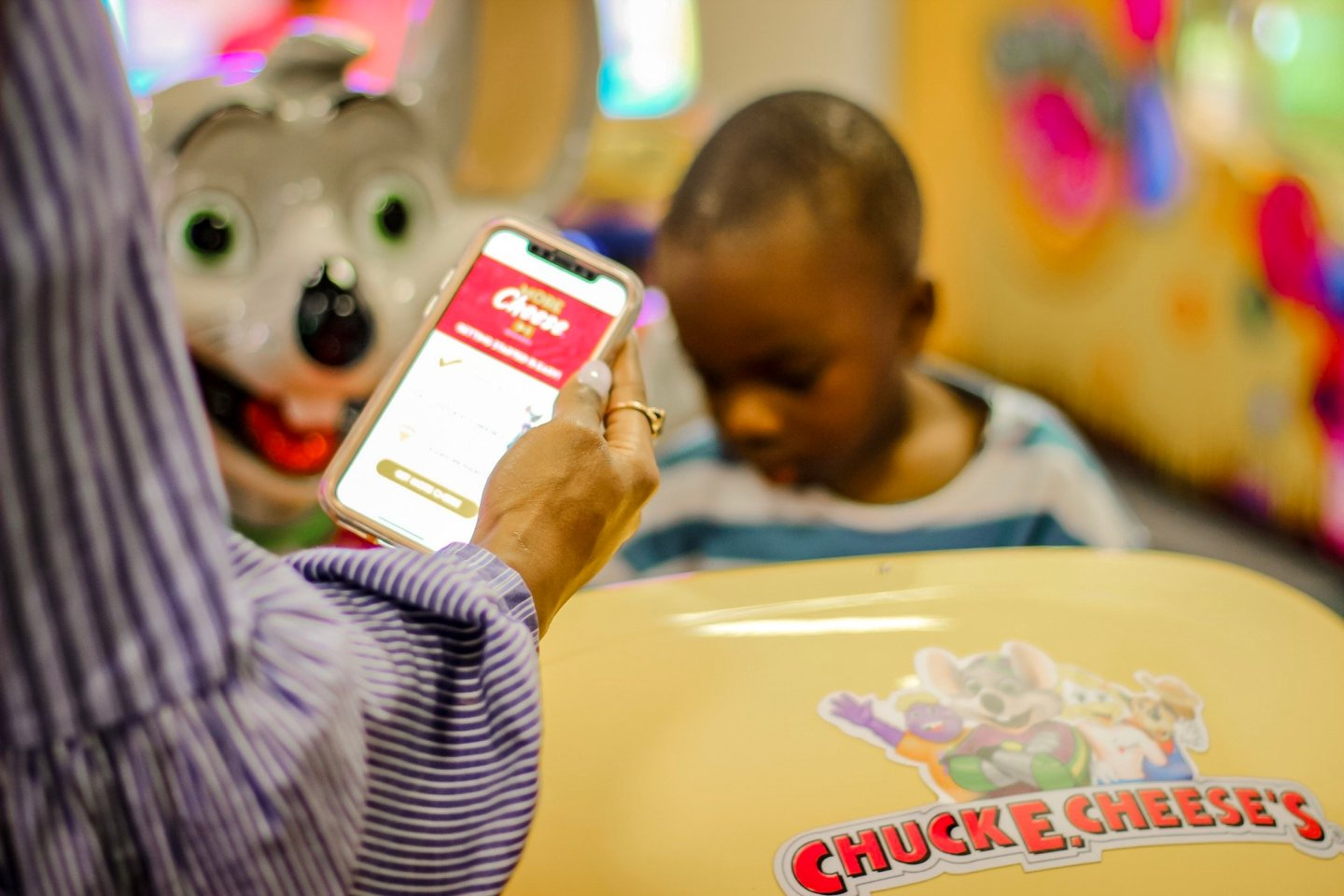 Spring Break Playdate At Chuck E. Cheese's