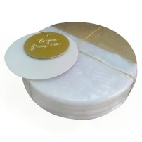 marble coasters with gold