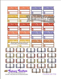 Early Autumn Printable Planner Stickers 5