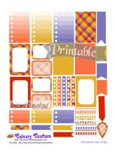 Early Autumn Printable Planner Stickers 8