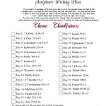 November 2017 Scripture Writing Plan