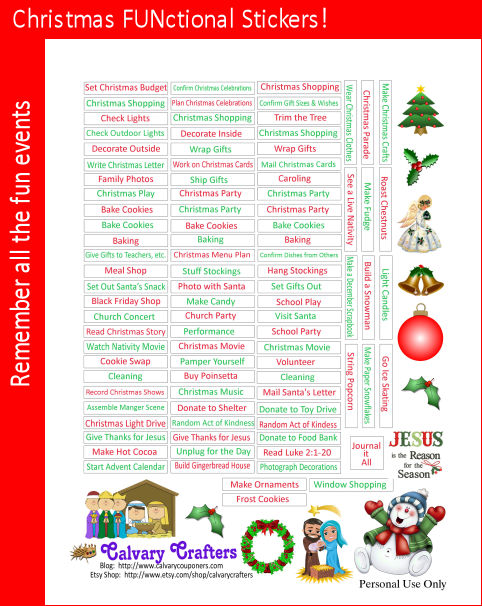 Freebie Friday – FUNctional Christmas Stickers!