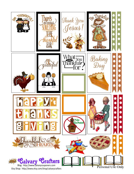 Freebie Friday -Country Thanksgiving Planner Printables