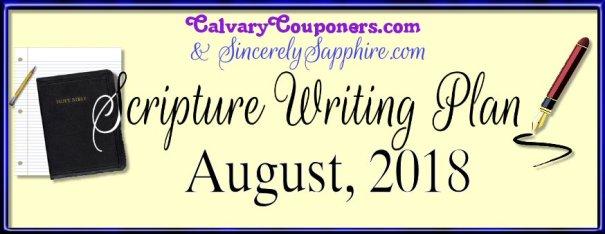 August 2018 scripture writing plan header