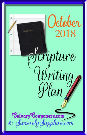 Scripture Writing Plan for October 2018