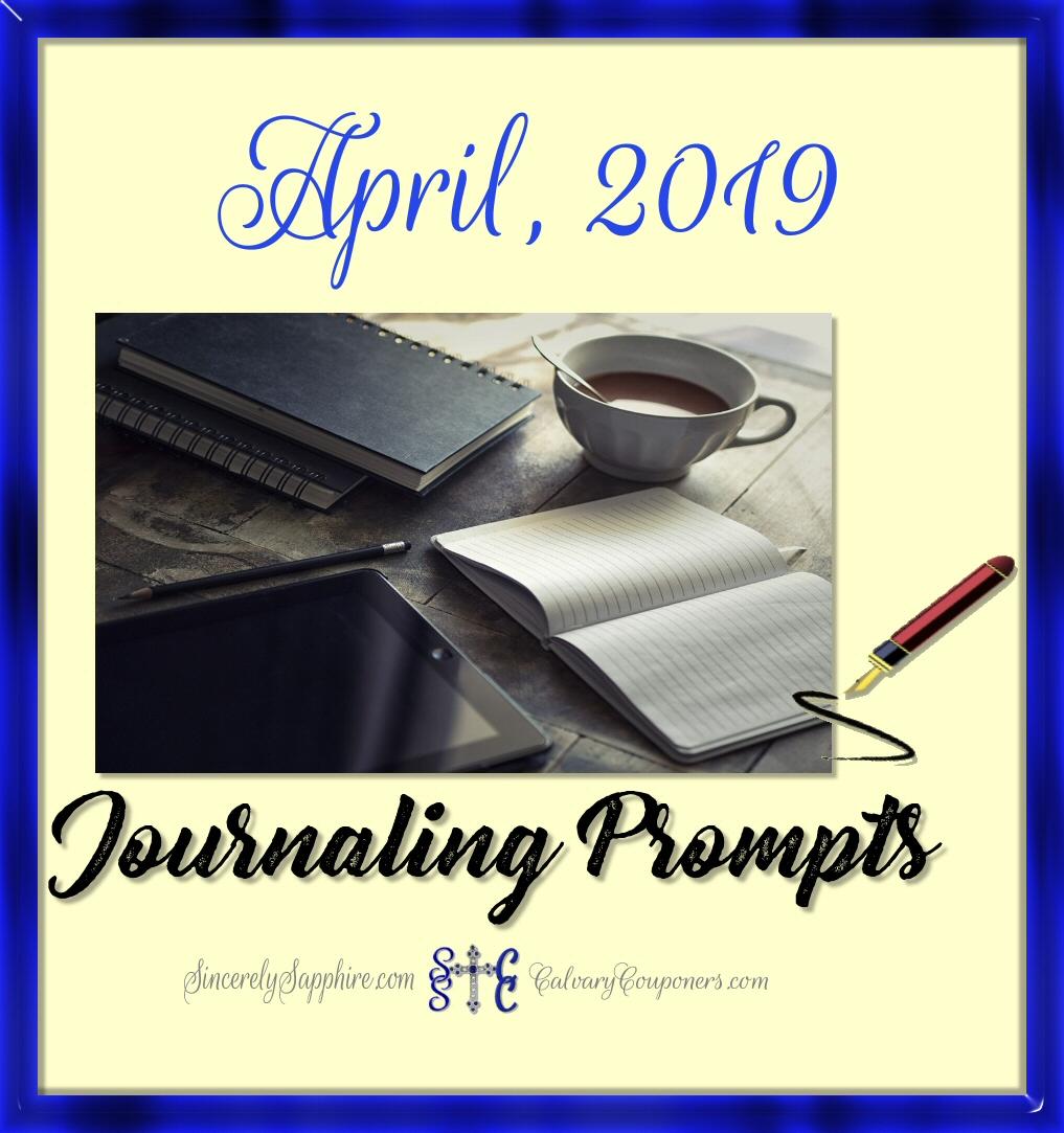 April, 2019 Journaling Prompt Plan