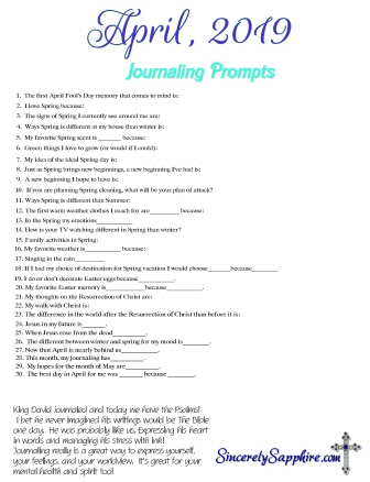 April 2019 journaling prompts