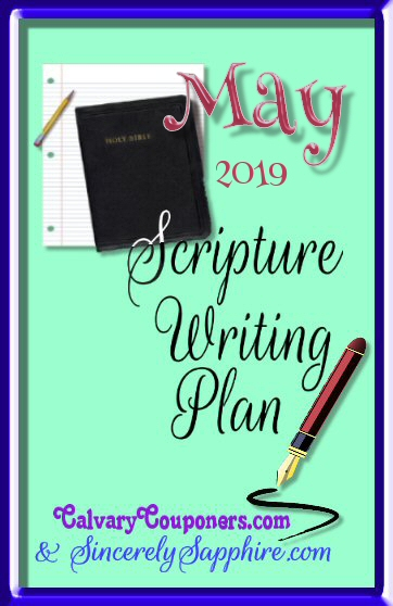 Scripture Writing Plan for May 2019