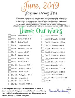 Download June 2019 scripture writing plan here