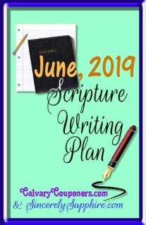 June 2019 Scripture Writing Plan