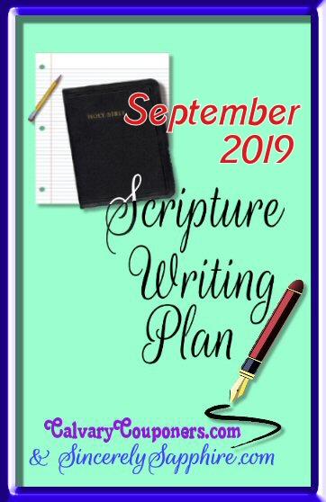 September 2019 Scripture Writing Plan