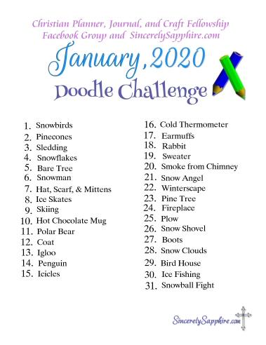 January 2020 doodle challenge thumb