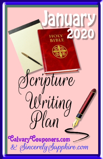 January 2020 scripture writing plan header