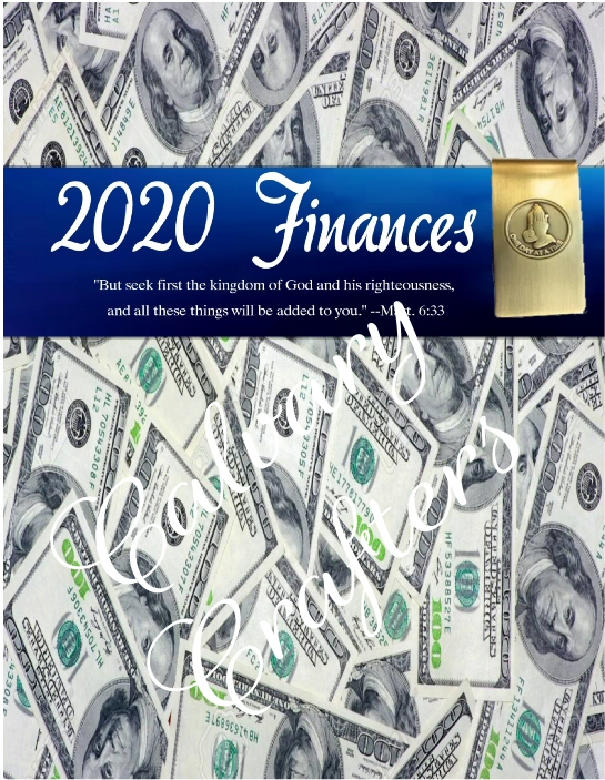 2020 Financial Planner Printable with a Freebie