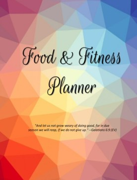 Food and Fitness Planner Geometric Version