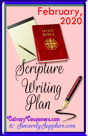 February 2020 Scripture Writing Plan -Love