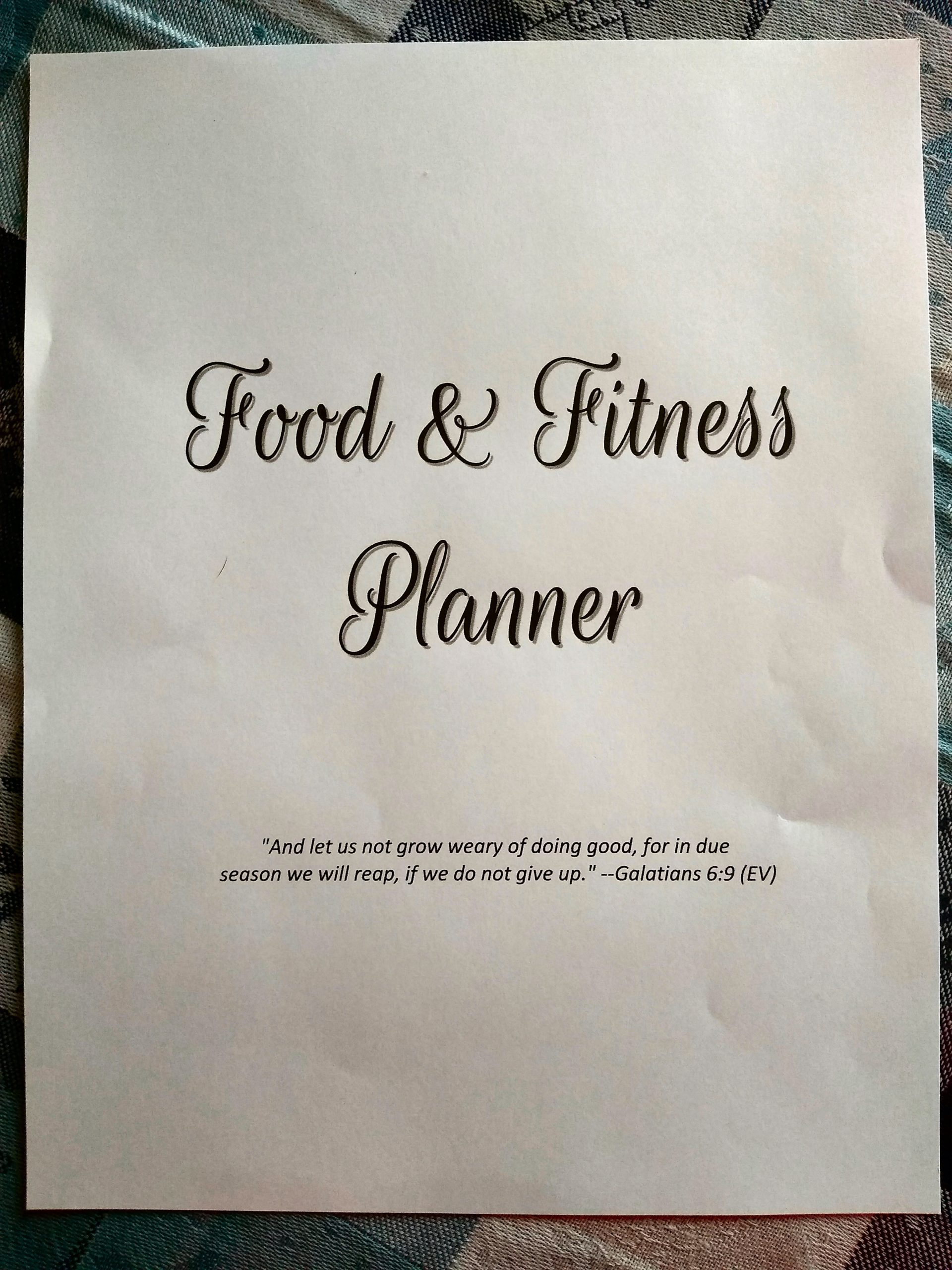 Food and Fitness Planner New in My Etsy Shop