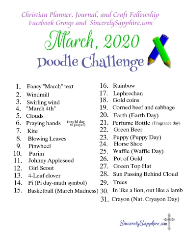 Click here for the full size pdf for the March 2020 doodle challenge