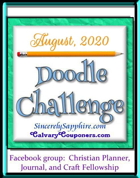 August 2020 doodle challenge header