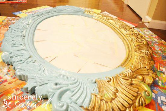 Chalk Paint on Mirror