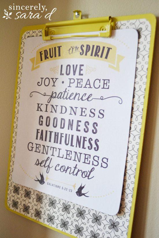 Free Printable Fruit of the Spirit