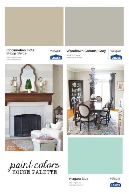 Get inspiration for PAINT COLORS and see one house palette that works!