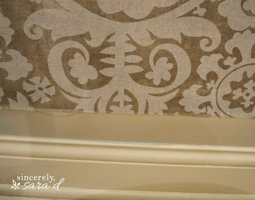 Starched Fabric Wall - Fabric shrunk