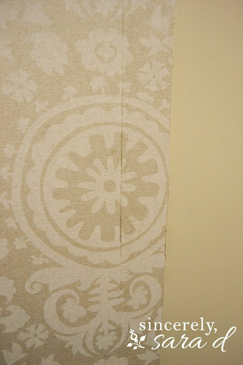 Starched Fabric Wall Seam